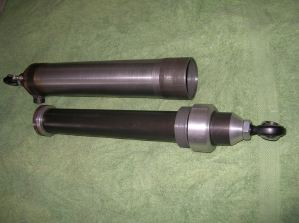 The parts of the air spring prior to assembly