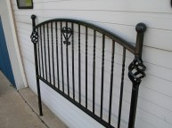 This iron head board was a father's day gift