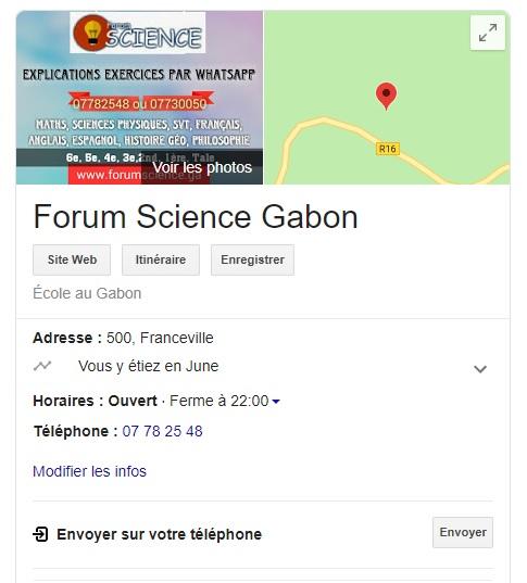 forum science gabon
