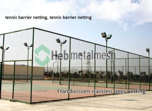 tennis barrier netting, tennis barrier netting