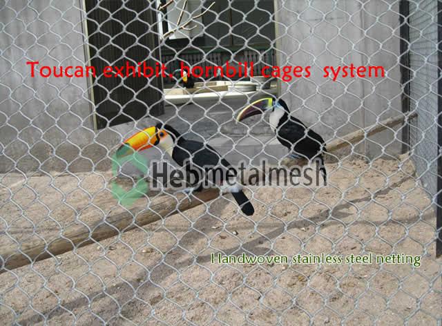 toucan exhibit hornbill cages