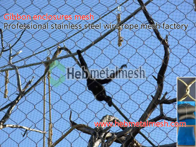 Gibbon enclosures barrier netting, gibbon cage fencing, stainless ...