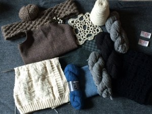Picture of knitted pieces by Shona MacLellan