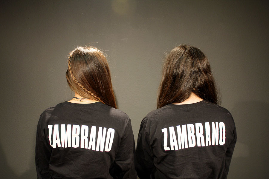 Swann+and+Ramirez+wear+their+%22Zambrano%22+shirts