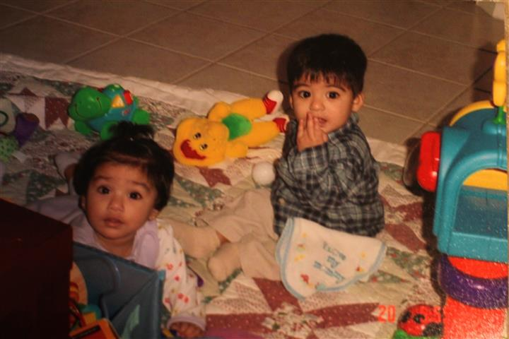 Yasmin+and+her+twin+brother%2C+Sameer+as+babies.+