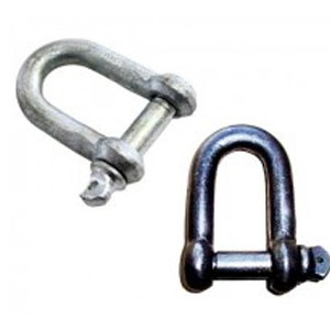 Galvanized Dee Shackles Unrated