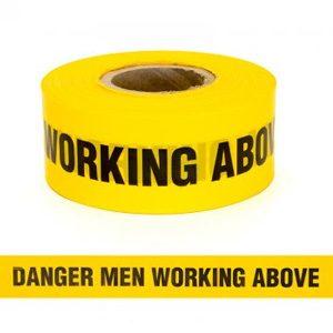 Danger Men Working Above Tape