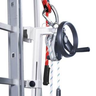 SafEscape with Hoist Wheel, Handle & Ladder Adapter
