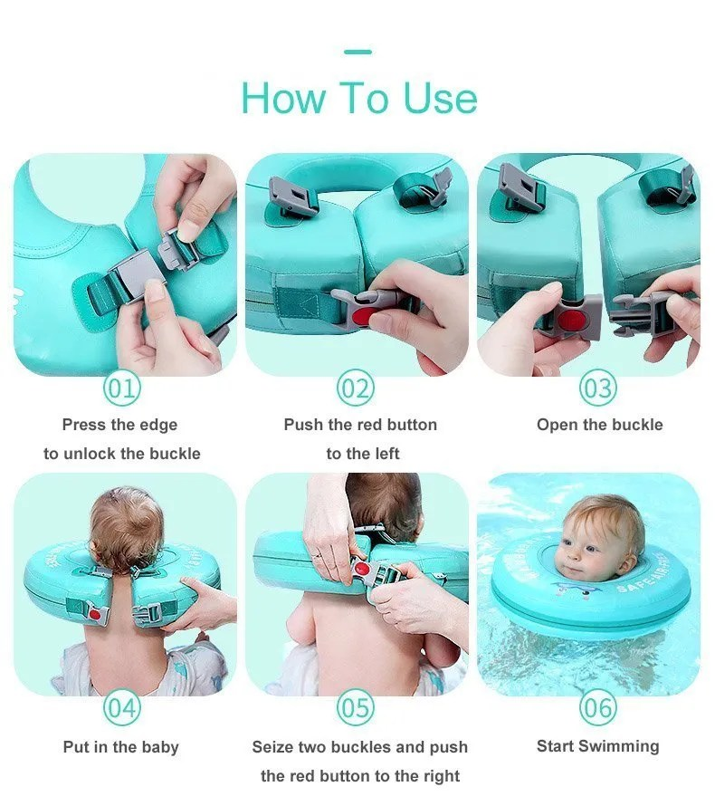 mambobaby neck float how to use