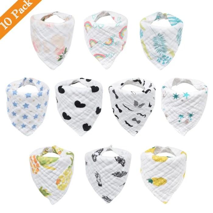 Musiln Cotton Baby Bibs boys & girls 10pcs/lot
