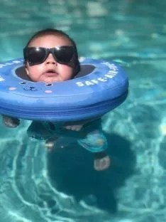 mambobaby neck float blue