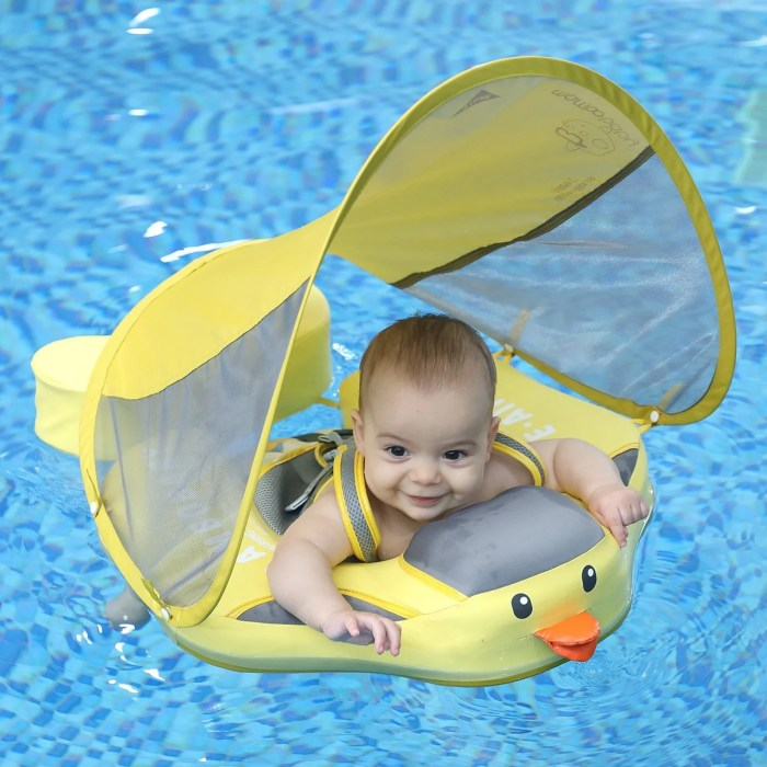 mambobaby float duck with canopy and tail 2