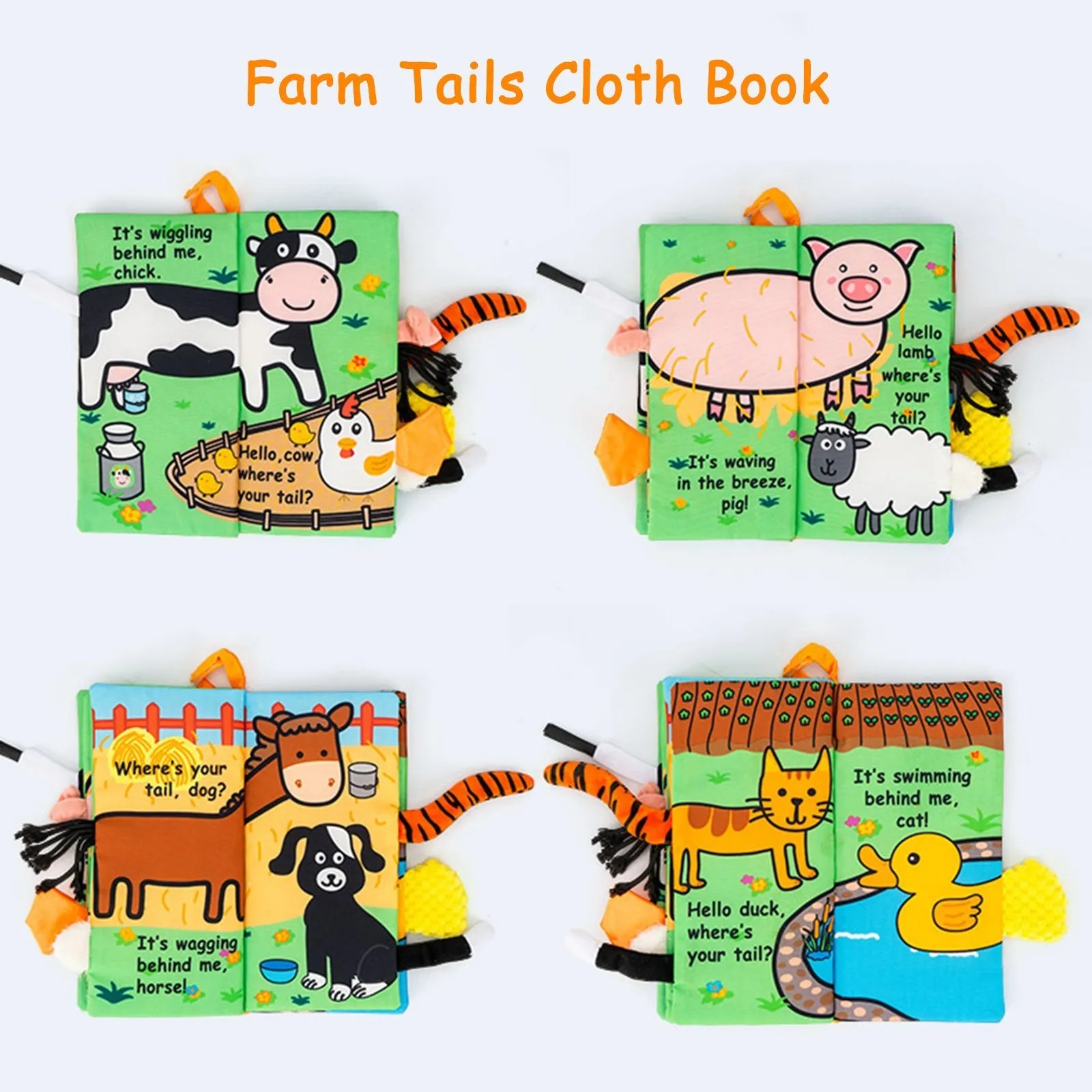 Baby soft book farm tails