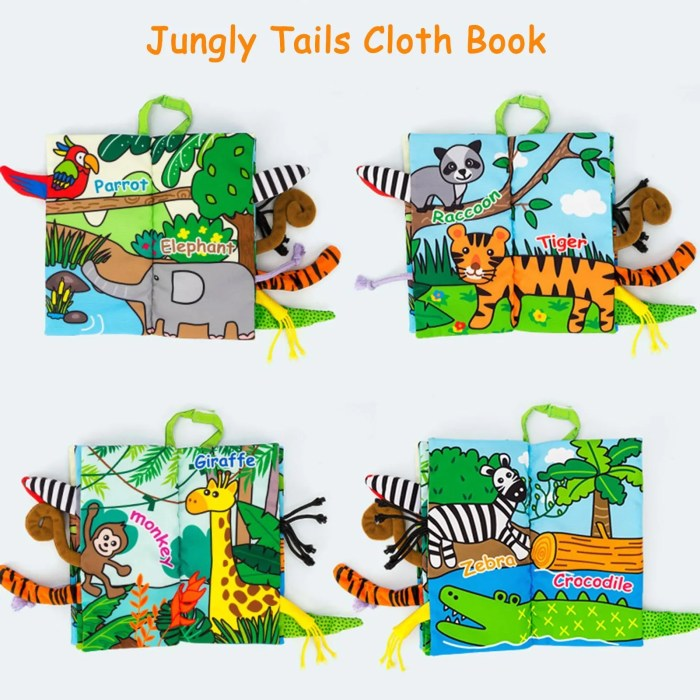 Baby soft book jungle tails