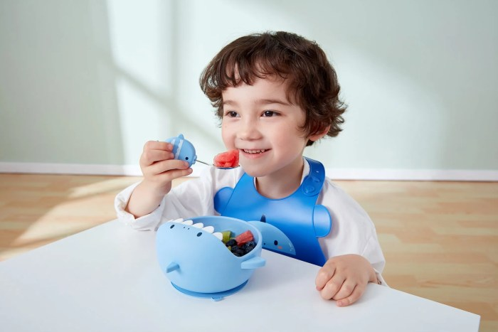 Silicone Weaning Baby Feeding Set model picture