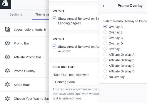 Shopify Admin Panels