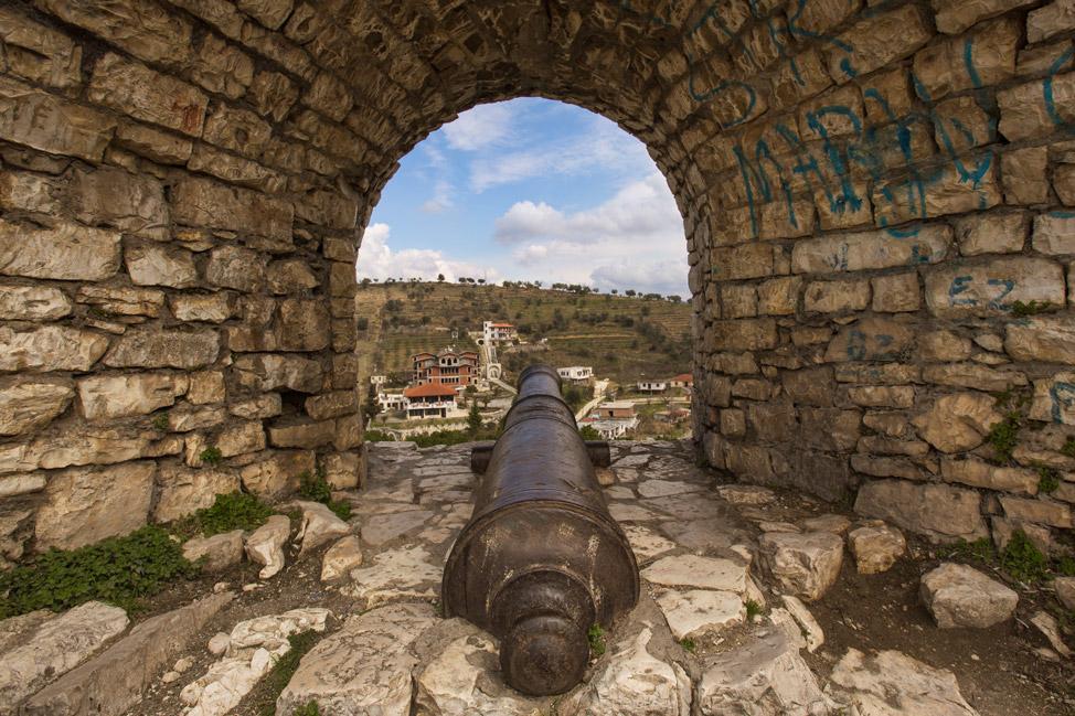 Cannon in Berat Fortress