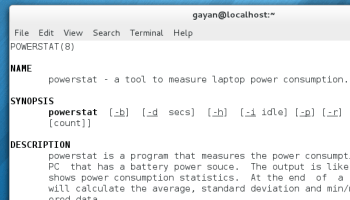 powerstat: Power Consumption Calculator for Ubuntu Linux