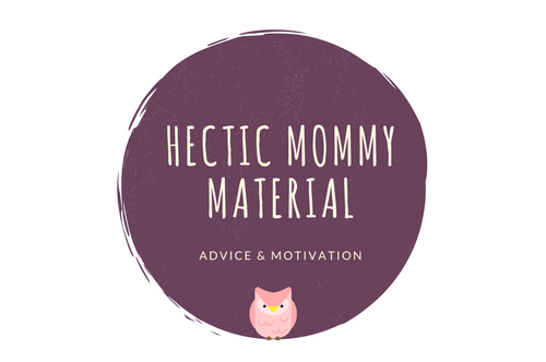 Hectic Mommy Material Logo Advice and Motivation