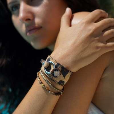 bracelet pour femme jabiru porté