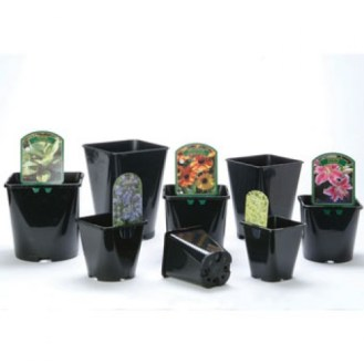 1 and 2 Litre Square Round Pots