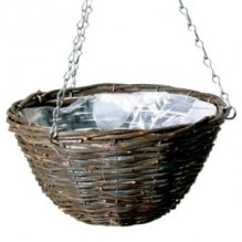 Black Rattan Basket & Liner