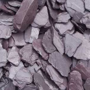 Plum Slate Chippings garden gravel
