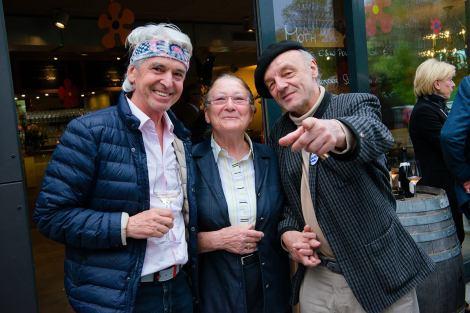 Reinhard Sudy, Mama Polz und der Maler Walter Felber (Foto Hui Mei Stöckl)