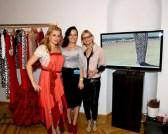 Nadine Wohlmuth, Eva Poleschinski und Hedi Grager im Wiener Atelier (Foto Reinhard Sudy)