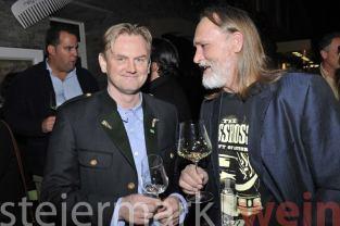 Sommelier Christian Zach mit Winzer Ewald Zweytick (Foto Apresvino)