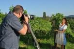 Antonios Larentzakis beim Shooting mit Sandra Thier (Foto Reinhard Sudy)
