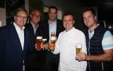 Gerald Paunger mit Nachfolger Ronald Zentner, Andreas Cretnik und Christoph Widakovich (Foto Christina Dow)