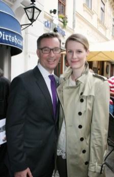 Klaus Weikhard mit Caroline List (Foto Christina Dow)