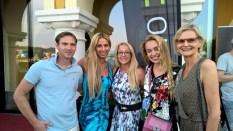 Yvonne Rueff und ihr Robert, Birgit Spieß, Liliana Klein und Hedi Grager (Foto Reinhard Sudy)