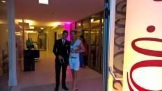 Sascha Marx, General Manager Schloß Hotel Velden mit Julian FM Stoeckel (Foto Hedi Grager)