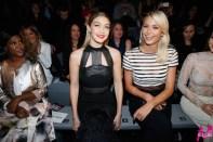 Models unter sich: Gigi Hadid und Lena Gerke. MAYBELLINE NEW YORK Mercedes Benz Fashion Week Berlin (Foto MAYBELLINE NEW YORK)