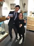Nadiv Molcho mit Diagonale Marketing-Lady Kathi Auferbauer (Foto Brillenquartier)