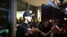 Esther Perbandt beim Interview nach ihrer Show auf der Berliner Fashion Week (Foto Hedi Grager)