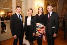 Werner Schreyer, Alexandra Meissnitzer, Marina Hoermanseder, Französischer Botschafter Pascal Teixeira da Silva (Foto Moni Fellner)