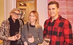 Hedi Grager mit Sabrina Sammer und Mister Austria Philipp Knefz (Foto Reinhard Sudy)