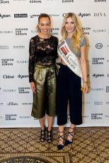 Fashion for Europe in der Wiener Staatsoper - Liliana Klein und Miss Austria Dragana Stankovic (Foto FLASHED Events)