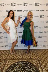 Fashion for Europe in der Wiener Staatsoper - Gabi Leger (Grazetta) und Sandra Schranz (Foto FLASHED Events)