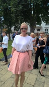 Franziska Knuppe auf der Show von Designerin Marina Hoermanseder - Mercedes Benz Fashion Week Berlin (Foto Hedi Grager)