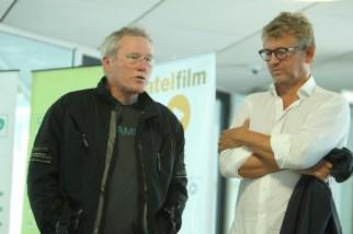 Heinrich Mis, der Leiter der ORF-Abteilung Fernsehfilm, und Heinrich Ambosch, SATEL Film (Foto Cinestyria Bernhard Loder)