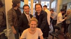 Marcel Resch, und die Schauspieler und Kabarettisten Sigrid Spörk und Gernot Haas (Foto Hedi Grager)