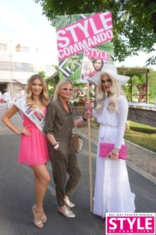 Dragana Stankovic, Hedi Grager und Gloria Hole - PINK&WHITE Sommerfest am Gut Pössnitzberg mit STYLE UP YOUR LIFE! (Fotos Michaela Scheurer & Philipp Enders)