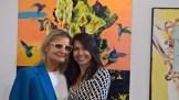 Hedi Grager mit Künstlerin Magdalena Tabeau - Werner Stadler eröffnete sein neues Atelier in Graz (Foto Reinhard Sudy)