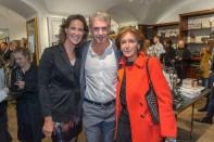Karl Lagerfeld Store Opening in Wien: Kathi Stumpf mit Mutter Elisabeth und Alex Beza (Foto Andreas Tischler)