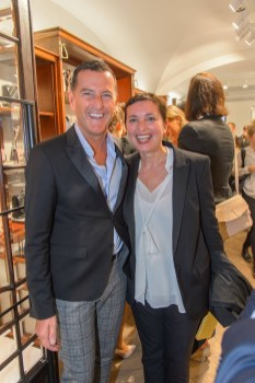 Karl Lagerfeld Store Opening in Wien: Pier Paolo Righi mit Ehefrau Iris (Foto Andreas Tischler)