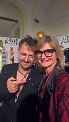 KURIER ROMY Gala 2018 Philipp Hochmair und Hedi Grager (Foto privat)